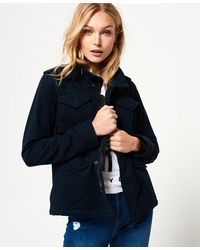 Superdry Winter Rookie Military Jacket - Blue
