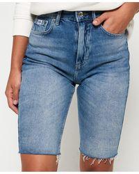 Superdry Kari Longline Shorts - Blue