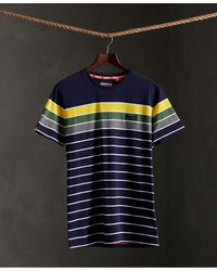 Superdry Organic Cotton Breton Stack T-shirt - Blue