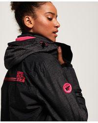 Superdry Arctic Hooded Pop Zip Sd-windcheater Jacket - Gray