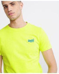Superdry Orange Label Neon Lite T-shirt - Yellow