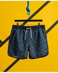 Superdry Echo Racer Swim Shorts - Blue