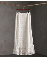 Superdry Morgan Lace Maxi Skirt - White