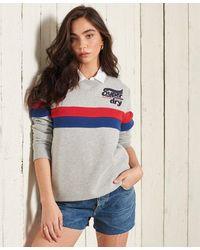 Superdry Collegiate Cut & Sew Sweatshirt - Grey