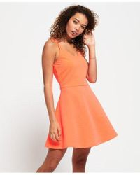 Superdry - Textured Skater Cami Dress - Lyst