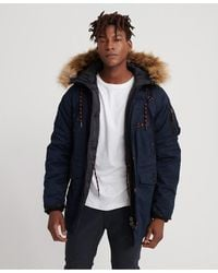 Superdry Sdx Parka Jacket - Blue
