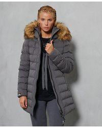Superdry Arctic Tall Puffer Coat - Grey