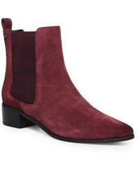 Superdry Zoe Quinn High Chelsea Boots - Red