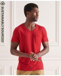 Superdry Pocket V-neck Tee - Red