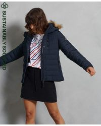 Superdry Classic Faux Fur Fuji Jacket - Blue