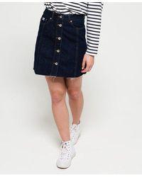 Superdry Denim A Line Skirt - Blue