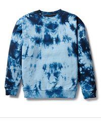 Superdry Unisex Tie Dye Crew Sweatshirt - Blue