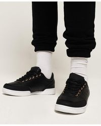 Superdry Premium Court Sneakers - Black