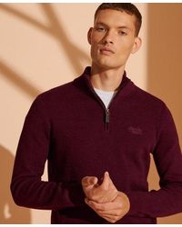 Superdry - Orange Label Henley Jumper - Lyst