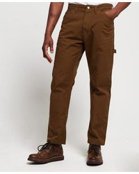 Superdry Earl Worker Jeans - Brown