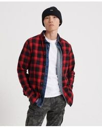 Superdry Workwear Long Sleeved Shirt - Red