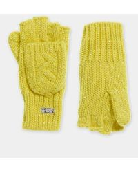 Superdry Gracie Cable Gloves - Yellow