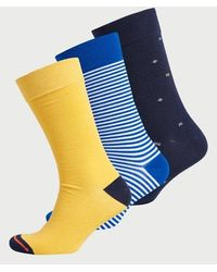 Superdry Pack de tres pares de calcetines City de algodón orgánico - Azul