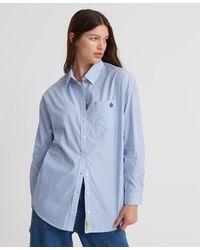 Superdry Camisa a rayas May - Azul