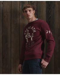 Superdry Klassiek Track & Field Sweatshirt Met Ronde Halslijn - Rood