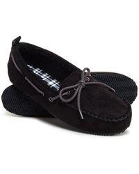 Superdry Clinton Mocassin Slippers - Zwart
