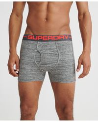 Superdry Sport Boxer Double Shorts - Gray