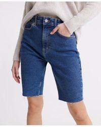 Superdry Kari Long Line Shorts - Blue