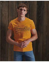 Superdry Vintage Logo Embossed T-shirt - Metallic