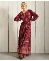 Superdry Ameera Maxi Dress - Red