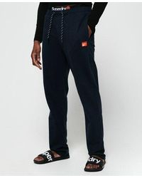 Superdry Organic Cotton Sd Laundry Sweat Trousers - Blue