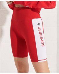 Superdry Pantalones cortos de ciclista Active Lifestyle - Rojo