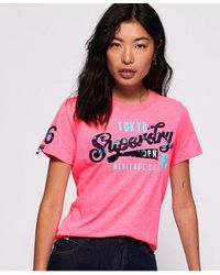 Superdry - Heritage Flock T-shirt - Lyst