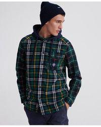 Superdry Denim Goods Hooded Shirt - Green