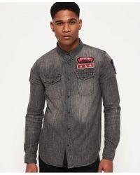 Superdry - Dragway Patch Denim Shirt - Lyst