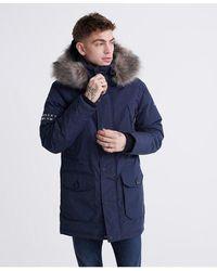 Superdry Premium Ultimate Down Parka Coat - Blue