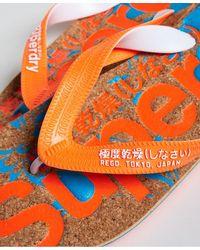 Superdry Chanclas de corcho con estampado - Naranja