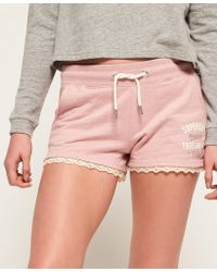 Superdry - Addison Lace Trim Shorts - Lyst