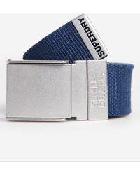 Superdry Reverse Canvas Belt - Blue