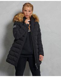 Superdry Arctic Tall Puffer Coat - Black
