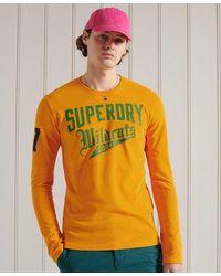 Superdry Camiseta gráfica de manga larga Collegiate - Metálico