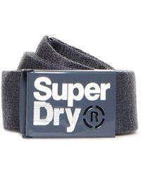 Superdry Single Solo Belt - Gray