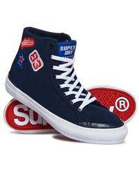 Superdry Pacific Hi Top Sneakers - Blue