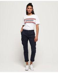 Superdry Girlfriend Cargo Pants - Blue