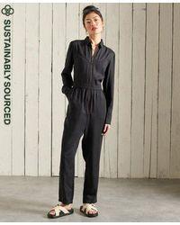 Superdry Western Jumpsuit - Black