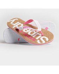 Superdry Cork Flip Flop - Pink