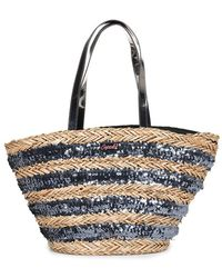 Superdry Anya Sequin Straw Tote Bag - Multicolour