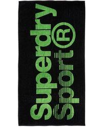 Superdry Large Sport Towel - Green