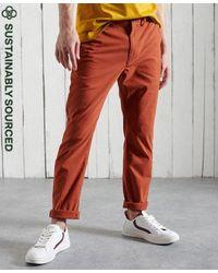 Superdry Pantalones chinos ajustados de algodón orgánico Core - Naranja
