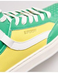 Superdry Vegan Basket Lux Sneakers - Yellow