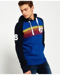 Superdry | Retro Mountain Stripe Raglan Hoodie | Lyst